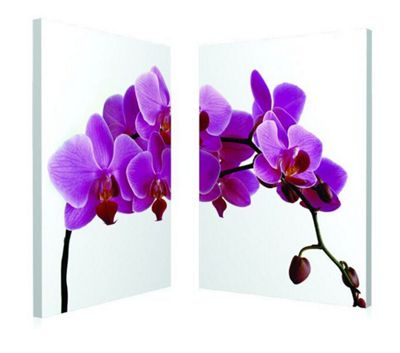 2-Piece Pink Orchid Wall Art