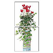 2-Piece Floral & Book Wall Art