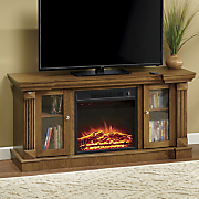 2 door entertainment fireplace