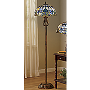 marbled stained glass floor lamp