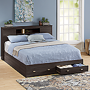 madison queen storage bed
