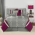 Sabrina Embroidered 10-Piece Bed Set