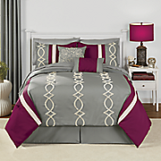 sabrina embroidered 10 pc  bed set