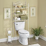 White Bath Storage Set