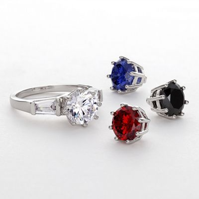 Four-In-One Cubic Zirconia Cocktail Ring