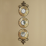 set of 3 capiz wall mirrors 98