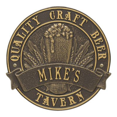 Personalized Craft Beer Round Plaque