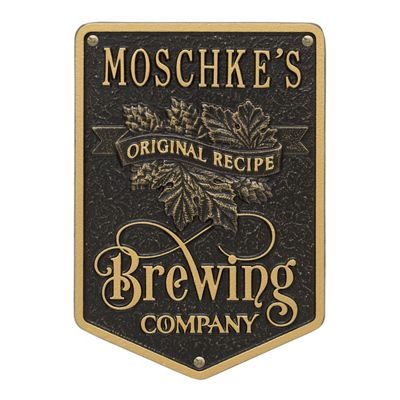 Personalized Original Recipe Brewing Plaque