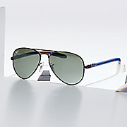 unisex aviator carbon fiber lens by ray ban