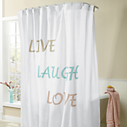 live laugh love shower curtain 113