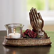 praying hands votive holder