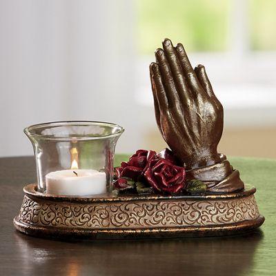 Praying Hands Votive Holder
