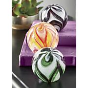 swirl glass glow paperweight
