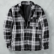 reversible poly flannel jacket
