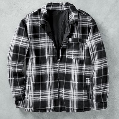 Reversible Poly/Flannel Jacket