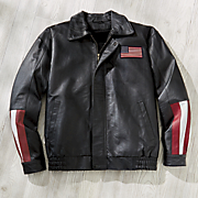 victory faux leather jacket