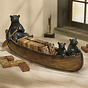 bears in canoe domino set