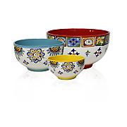 set of 3 mumbai mixing bowls