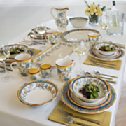 duomo dinnerware set  serving bowl and platter