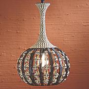 faux rattan pendant lamp