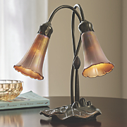 2 arm lily table lamp