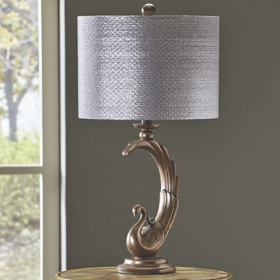 Shimmer Peacock Table Lamp