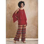 shannon 2 pc  top and senegal wide leg pant