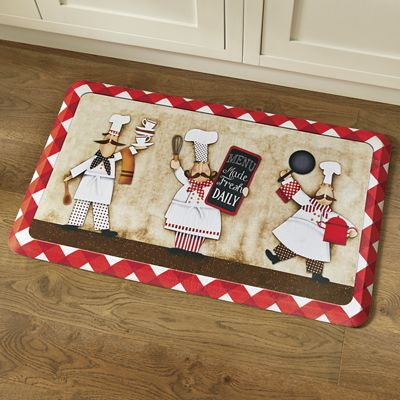 "Three Panel Chefs Comfort Mat by Mohawk - 1' 6"" X 2' 6"""