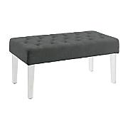 ella acrylic leg bench by linon