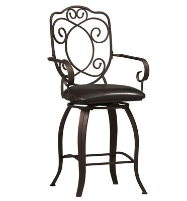 Crested-Back Counter Stool by Linon