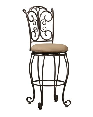 Gathered-Back Bar Stool by Linon