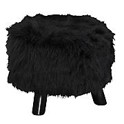 faux fur stool by linon