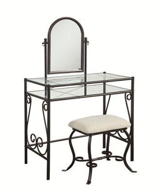 Clarisse Metal Vanity Set by Linon