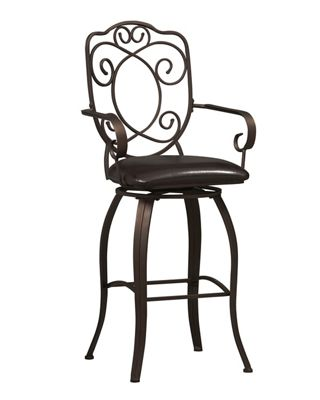Crested-Back Bar Stool by Linon