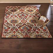 floral damask rug