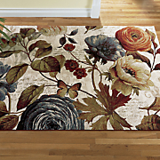 peony garden rug