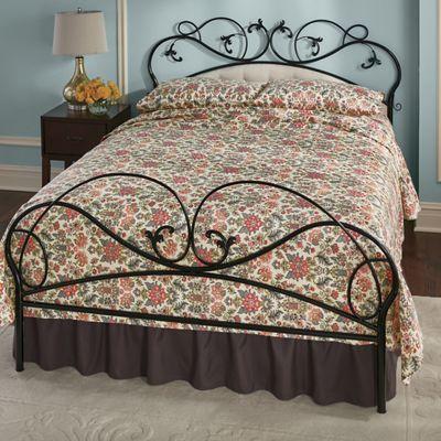 Black Metal Vine Queen Bed