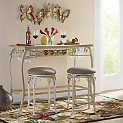 3 pc  irmeda counter bar and stools set
