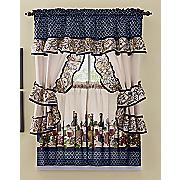 chateau printed cottage window set