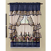 chateau printed cottage window set