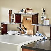 shutter over the sink shelf