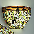 Wireless Leaves and Jewels Sconce
