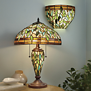 leaves and jewels lamp and wireless sconce