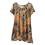 accented tribal tunic top