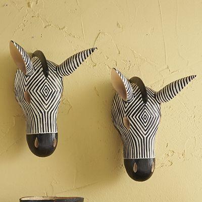Zebra Head Wall Décor