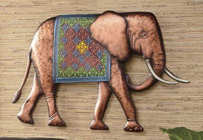 Metal Elephant Wall Art