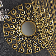 gold circles wall mirror