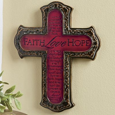 Faith, Hope & Love Wall Plaque