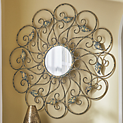 scroll leaf wall mirror