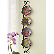 4 pc  inspirational plates with rack set